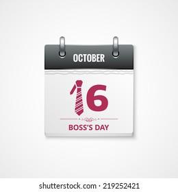 boss day calendar background