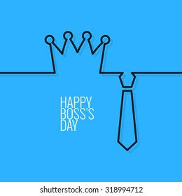 boss day continuous line vector background