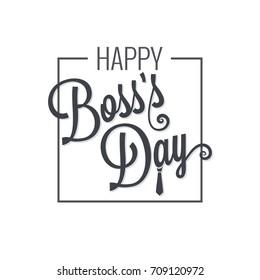 boss day logo lettering design background