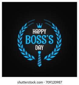 boss day logo sign design background