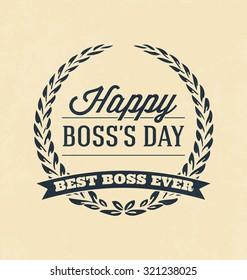 Boss Day Typographic Vector Design