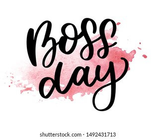 boss day vintage lettering background vector calligraphy