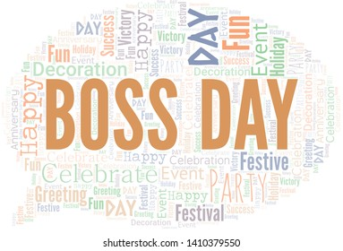 Boss Day Word Cloud. Wordcloud Made With Text.