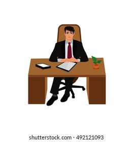 boss. director. CEO. vector illustration