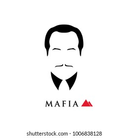 The boss of the Italian mafia. Vector illustration.