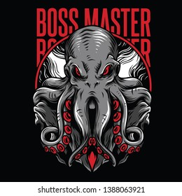 Boss Master Red Mafia Illustration