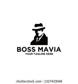 boss mavia logo design abstract
