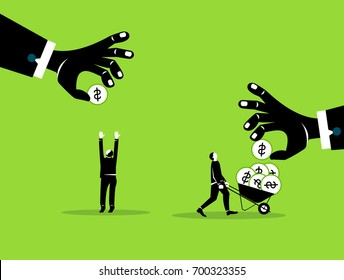 Boss pay business job salary. Business vector concept illustration.