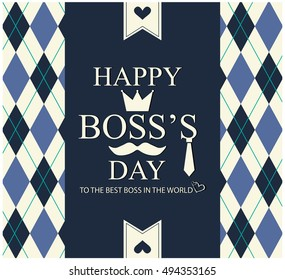 Boss's Day greeting card or background.vector illustration.
