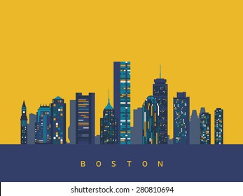 Boston abstract skyline