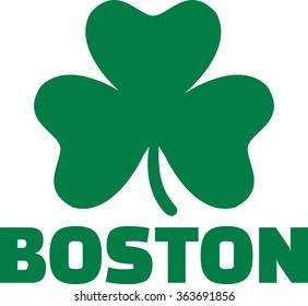 Boston With Green Shamrock