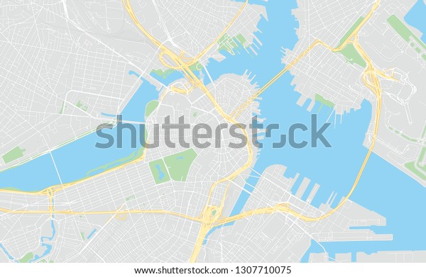 photograph about Printable Map of Boston titled Boston Machusetts Clic Hues Printable Map Inventory