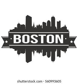 Boston Skyline Silhouette