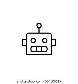 Bot line icon, robot
