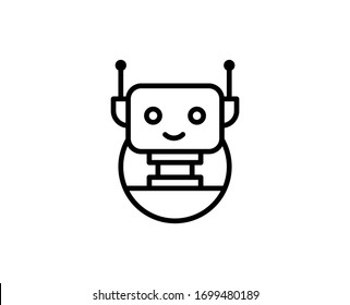 Bot line icon. Vector symbol in trendy flat style on white background. Web sing for design.