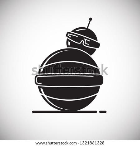 Bot Pet Icon On White Background Stock Vector (Royalty Free