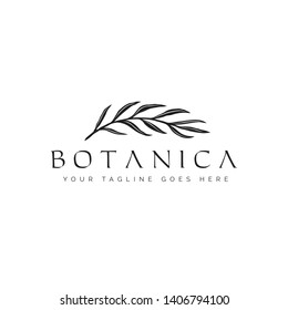 botanica logo with the concept of nature, leaves, classics and modern style