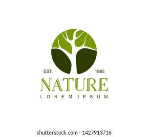 Botanical logo design concept. Universal nature logo.