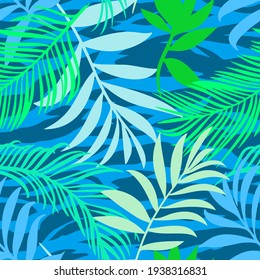 Botanical seamless pattern mixed with tiger zebra stripes skin texture. Hand drawn fantasy exotic sprigs and leafage. Floral background made of herbal foliage leaves for fashion, textile, fabric.
