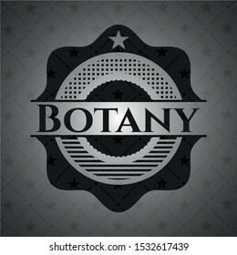 Botany realistic dark emblem. Vector Illustration. Detailed.
