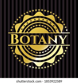 Botany shiny emblem. Vector Illustration. Detailed.