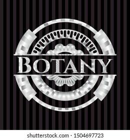 Botany silver emblem. Vector Illustration. Mosaic.