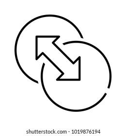Both side icon, vector illustration
