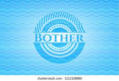 Bother light blue water wave emblem.