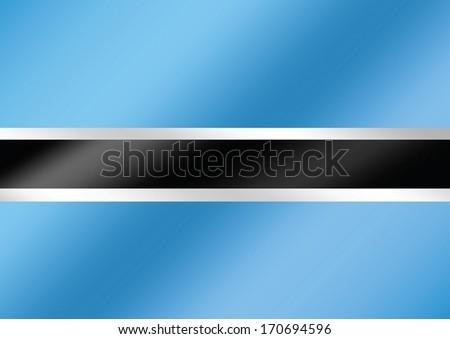 Botswana Flag Themes Idea Design Stock Vector (Royalty Free