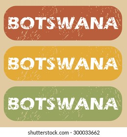 Botswana on colored background