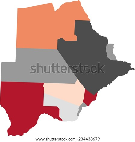Botswana Political Map.Botswana Political Map Pastel Colors Stock Vector Royalty Free