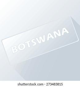 Botswana unique button for any design. Vector illustration