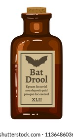 Bottle of bat drool for Halloween decoration