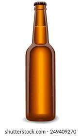 Bottle of beer. vector