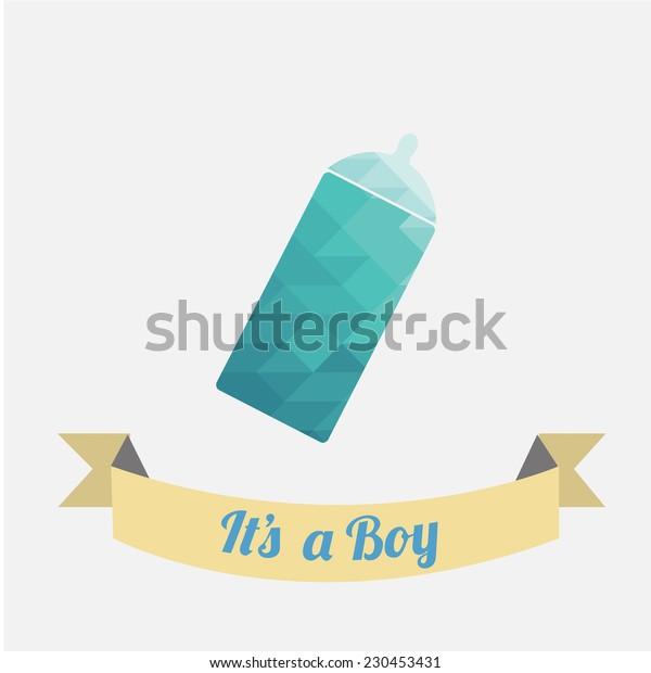 bottle blue illustration over white color background