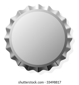 Bottle cap with copy space isolated over white