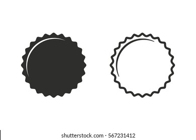 Bottle cap vector icon. Black illustration isolated on white background for graphic and web design.