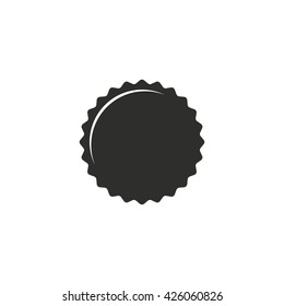 Bottle cap   vector icon. Illustration isolated on white  background for graphic and web design.