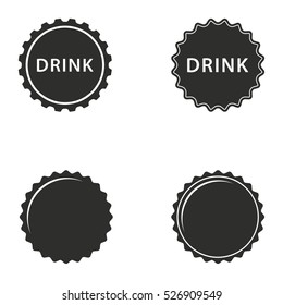 Bottle cap vector icons set. Illustration isolated for graphic and web design.