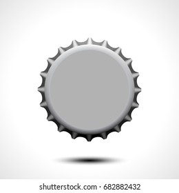 Bottle cap. Vector illustration