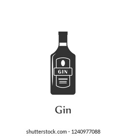 A bottle of Gin icon. Element of drink icon for mobile concept and web apps. Detailed A bottle of Gin icon can be used for web and mobile