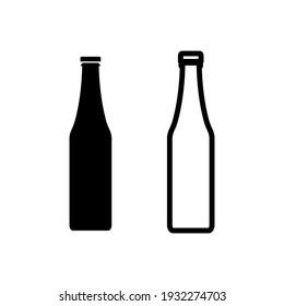 Bottle icon set. bottle vector icon