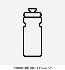 Bottle icon vector flat illustration