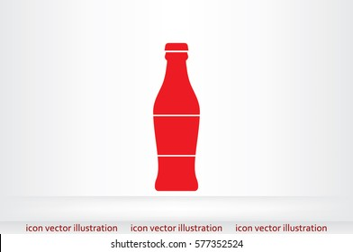 bottle icon vector illustration.
