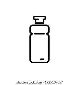 bottle icon vector illustration template