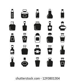 bottle icons, beverage bottle set