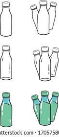 Bottle Illustration Vector Pack High Quality