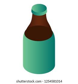 Bottle of kvass icon. Isometric of bottle of kvass vector icon for web design isolated on white background