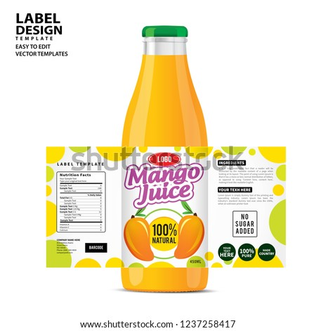 bottle label package template design label stock vector royalty