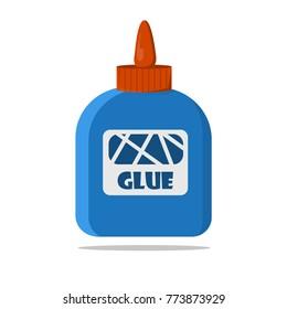 Bottle of latex glue vector illustration on white background